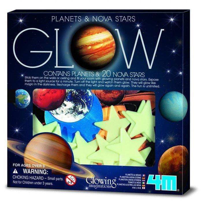 螢光太陽系貼片 Glow Planets   Nova Star in Box 八大行星就