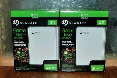 Seagate for Xbox One /One X 4TB 2.5吋外接式行動硬碟 game pass 白色款