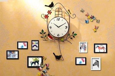 ZIHOPE 鐘錶歐式掛鐘個性創意現代簡約客廳臥室靜音家用小鳥掛錶石英時鐘ZI812