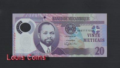 【Louis Coins】B1034-MOZAMBIQUE-2011 & 2017莫三比克塑膠紙幣,20 Meticai