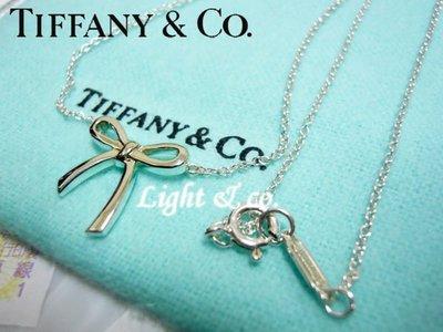 【Light & co.】專櫃真品已送洗 TIFFANY & CO 925純銀 稀少款 蝴蝶結 janet 項鍊