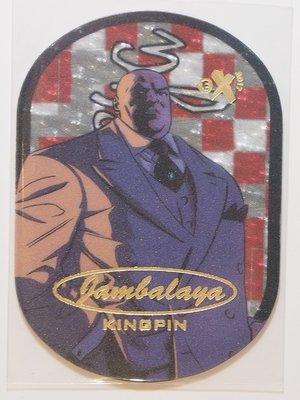 17 Fleer Ultra Spiderman Jambalaya #21 Kingpin 金霸王 超高比例蛋蛋卡