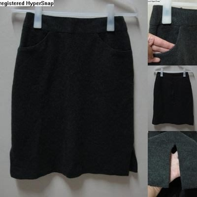 [AD LADY] 女子 羊毛 及膝裙 窄裙 小A裙-深鐵灰(M)..15%羊毛 全長內裡 保暧
