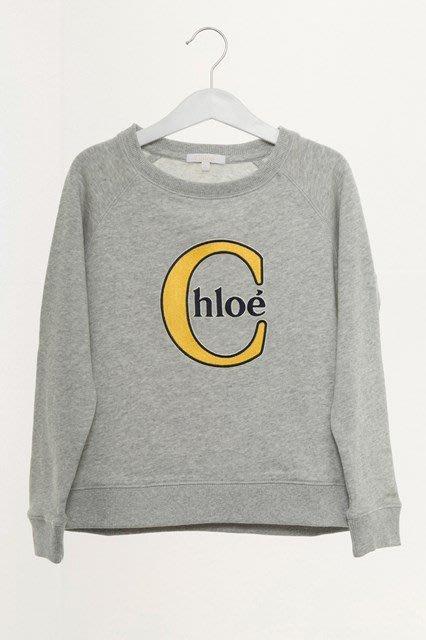 可刷卡可分期**全新CHLOE CHLOÉ  C  ME 運動衫 長袖T恤 衛衣 灰色  14Y
