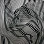 便宜地帶~S96白底黑條文現代感無接縫高級質感窗紗1尺50元~9尺幅寬~做窗紗.紗簾.佈置