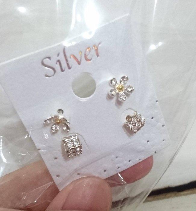 韓國正品(現貨) ~ 可愛甜美小耳環,2對一組