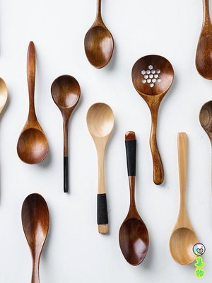 日式木質勺子實木餐具長柄調羹咖啡勺湯勺飯勺茶勺刀叉勺