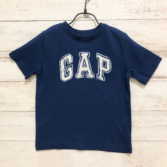 Maple麋鹿小舖 美國購買 童裝品牌baby Gap 男童藍色字母短T * ( 現貨18-24mos. )