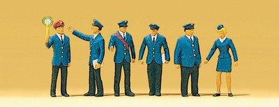 傑仲 (有發票) 博蘭 公司貨 Preiser 人物組 Railway personnel DB 10011 HO