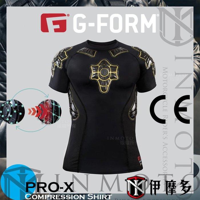 伊摩多※美國 G-FORM PRO-X 防摔衣 護具 壓縮 越野車自行車 短袖 Compression Shirt 黑黃
