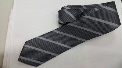 父親節 禮品 時尚 商務  伴郎 婚慶 應徵 情人節 手打領帶 7cm銀灰斜條紋 領帶 聖誕禮物