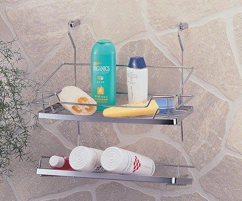 ☆成志金屬☆#304不鏽鋼調味料罐架S-400-2E,浴室瓶罐架,廚房置物架,調味品架,不繡鋼收納架,設計大方,掛桿可用