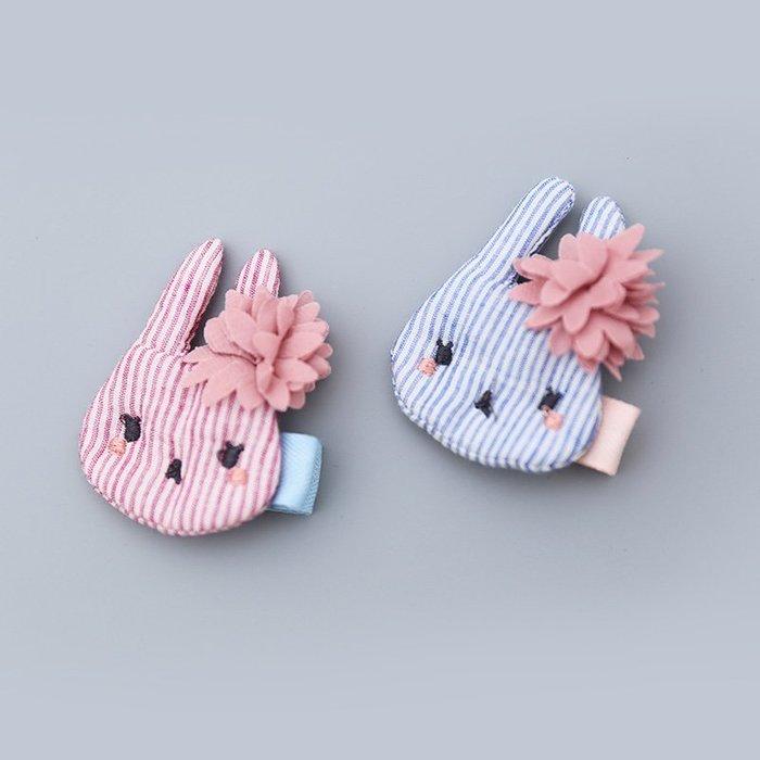 ☆草莓花園☆C173手工布製小兔  單入 兒童髮夾  拍照攝影頭飾髮飾