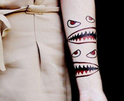 【萌古屋】萬聖節張嘴怪 - 逼真抓傷傷口紋身貼紙萬聖Halloween刺青貼紙 K30