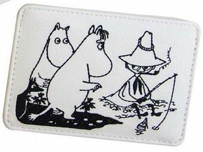 日本正版 魯魯米 悠遊卡票卡夾 證件夾 名牌套 伸縮卡夾 MOOMIN 姆明  阿金 刺繡票卡夾 現貨