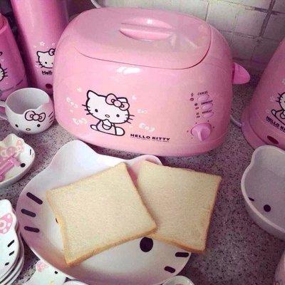 hello kitty 凱蒂貓 不銹鋼早餐機 烤面包機 多士爐 吐司機 兩圖