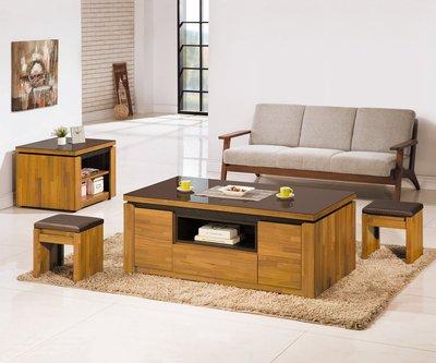 【南洋風休閒傢俱】精選時尚茶几系列-大茶几 泡茶桌 造形桌 電視櫃 設計櫃-集層木小茶几CY342-1
