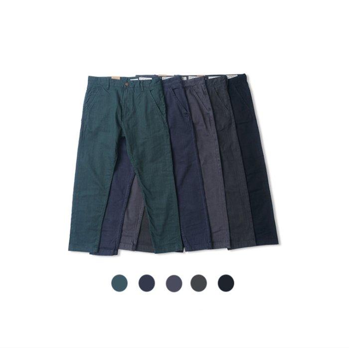 【 PUNX 】日系復古合身修身休閒褲