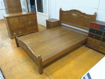 鴻宇傢俱~鄉村風全實木5尺雙人床台/ 床架 ~可改白色 另有3.5尺及6尺可選購~促銷優惠價 桃園市