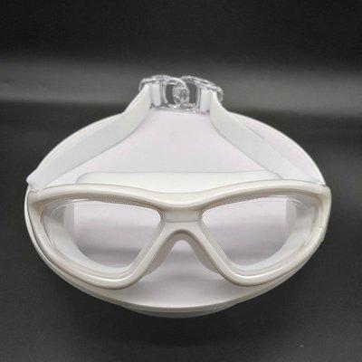 泳鏡游泳護目鏡泳鏡硅膠防水防霧正品成人男女時尚游泳眼鏡不壓眼大框潛水眼鏡
