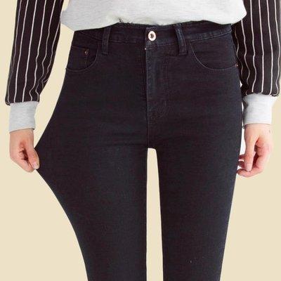 優惠特價中 春夏季韓版高腰修身九分牛仔褲女學生顯瘦黑色小腳鉛筆長褲潮女式