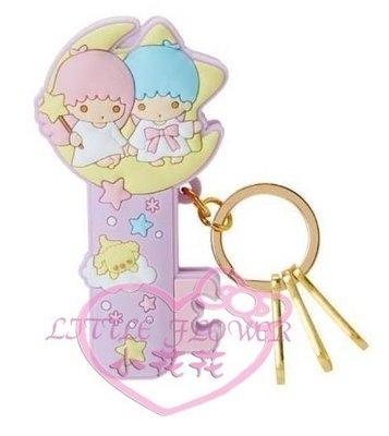 ♥小花凱蒂日本精品♥Twin Stars雙子星kikilala造型夾式鑰匙圈吊飾可勾可掛包包可夾多功能鑰匙圈~預