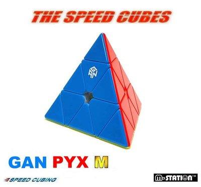 """M-STATION"""" GPX.GAN-Pyraminx M專業速解磁力金字塔魔術方塊芯定位版""""(免運費)"""
