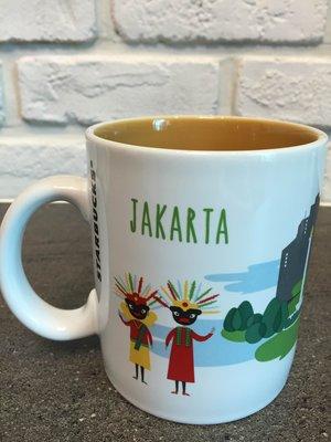星巴克 雅加達 城市杯 馬克杯 16 fl oz 館內有印尼款 附有盒及紙袋 可任選館內200元以內衣服 超過加價購
