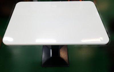 台中二手家具店 宏品全新中古傢俱館 A31525*白色餐桌* 營業用餐桌*中古桌椅拍賣 補習班桌椅 課桌椅