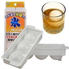 日本原裝進口小久保KOKUBO-球形附蓋製冰盒-3分格(大)