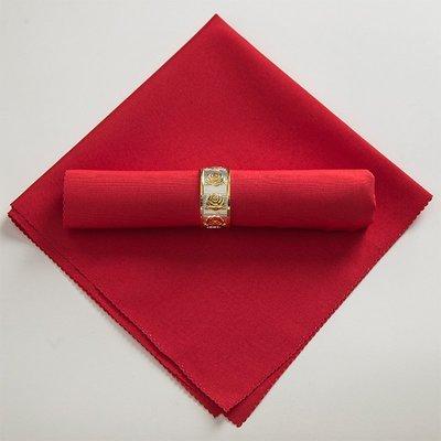 戀物星球 口布餐巾布 飯店酒店西餐廳純色素色紅色白色金黃藍色平紋折花布