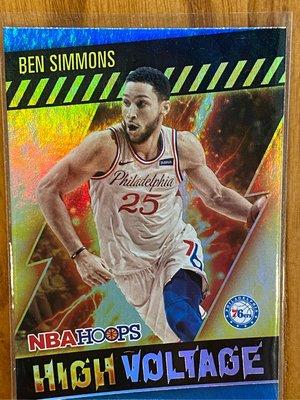 Ben Simmons 2020-21 NBA Hoops 球員卡 高壓 特卡 球卡 籃球卡 西門 76人 High Voltage