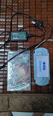 psp 2007 薄型 附充電器、電池、記憶卡、遊戲卡