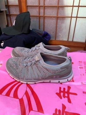 「 二手鞋 」 Skechers Air-Cooled 運動休閒鞋 US7(灰)37