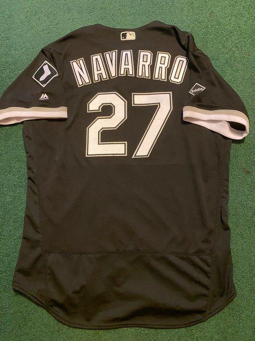 MLB 2016 Chicago White Sox 白襪 #27 Navarro Game Issue Jersey