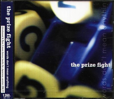 K - The Prize Fight - Words Don't Mean Anything - 日版 - NEW