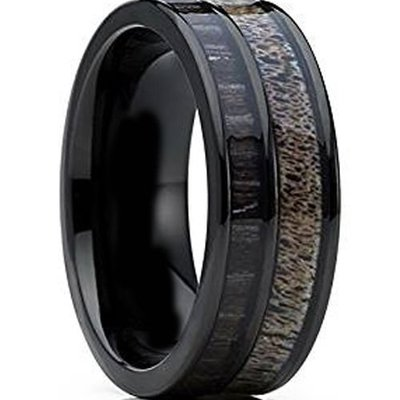coi jewelry tungsten carbide deer antler wedding band ring 戒指