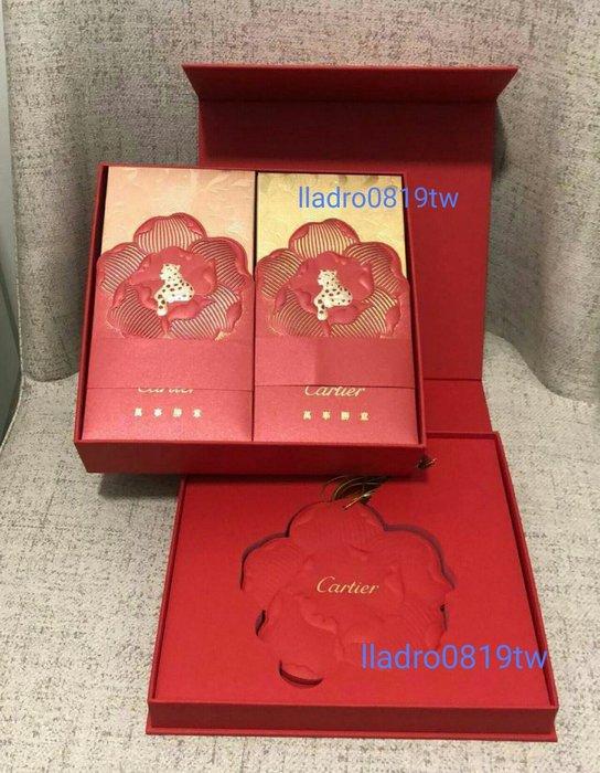 (方型硬盒裝40入)全新Cartier 卡地亞 紅包袋 金豹 萬事勝意 珍藏釋出 精品紅包 名牌(另 LV GUCCI