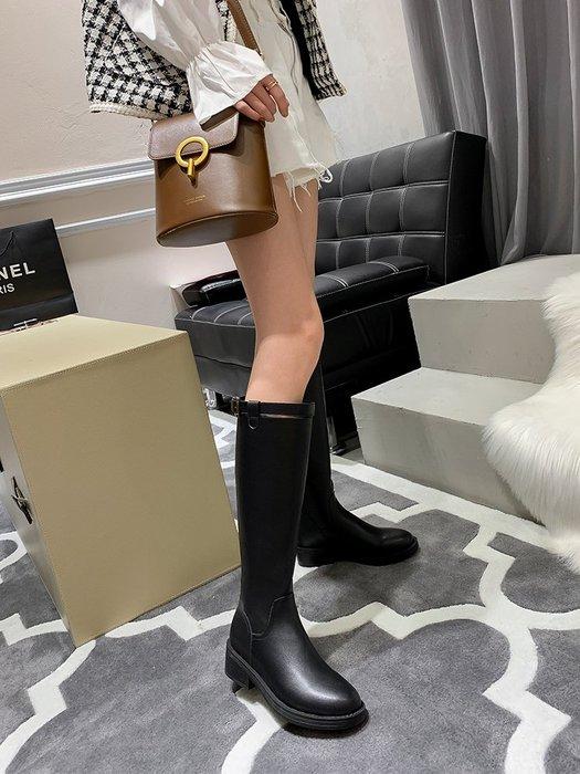 棉靴 機車靴 潮牌 騎士靴 女鞋秋冬季長筒靴不過膝 長靴 加絨高筒女 靴子