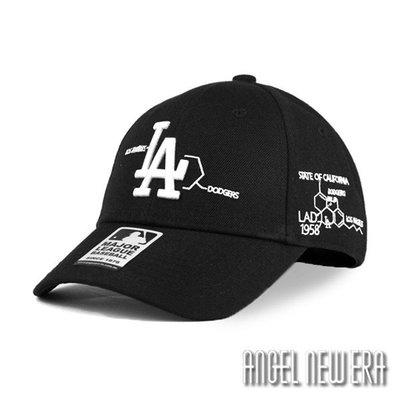【PD帽饰】【MLB Old Fashioned Cap】洛杉磯 道奇 LA 黑 老帽 化學式【ANGEL NEW ERA 】