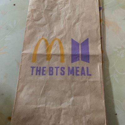 麥當勞x BTS 防彈少年團聯名紙袋