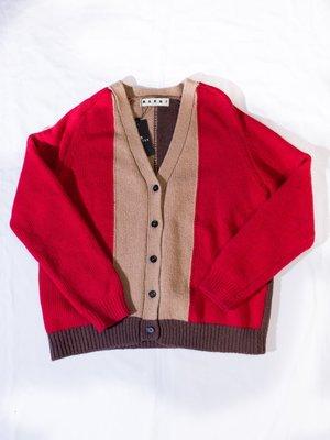 MARNI Knitted wool coat.(Red) 針織 外套
