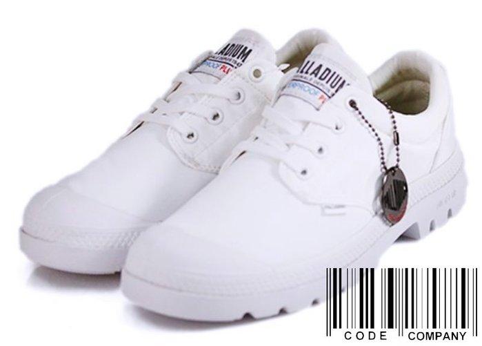 =CodE= PALLADIUM PAMPA OX PUDDLE LT+ WP 防水輕量軍靴(全白)76116-100男