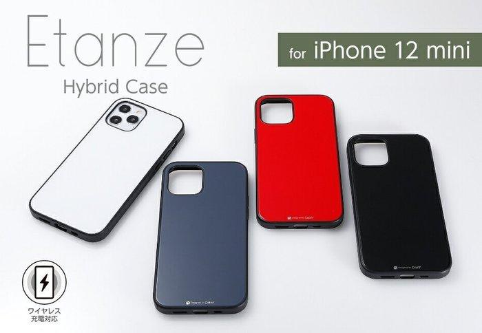 日本Deff Apple iPhone 12 mini Etanze玻璃+PC+TPU三材質保護殼 IPE20S