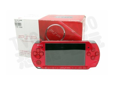 【二手主機】PSP3007型 艷光紅主機 附充電器 書盒完整【台中恐龍電玩】