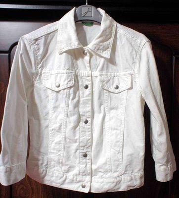 班尼頓 Benetton 女裝 牛仔型 外套 【S。白色】