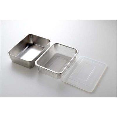 三件組日本製 Arnest 深型 多功能不鏽鋼保鮮盒  蓋+濾網  - 77168