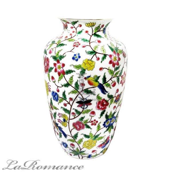 【芮洛蔓 La Romance】東情西韻系列手繪棕枝花鳥花器 / 花瓶 / 園藝用具