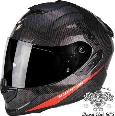 ♛大鬍子俱樂部♛ Scorpion® Exo Air 1400 Carbon Pure 蠍子 全罩 碳纖維 安全帽 橘