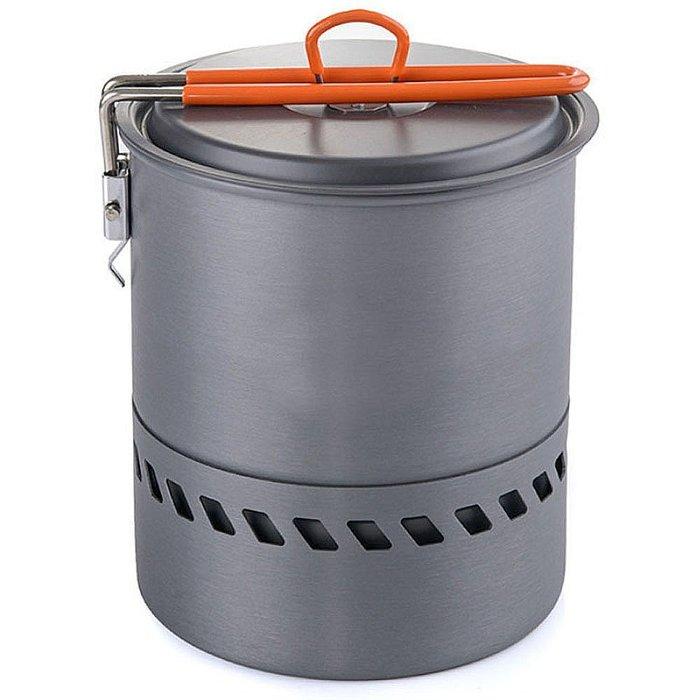 106生活購物網 登山露營野餐野炊泡茶咖啡必備硬鋁合金登山攜帶型聚能環單鍋套鍋 1.5L公升附收納網袋